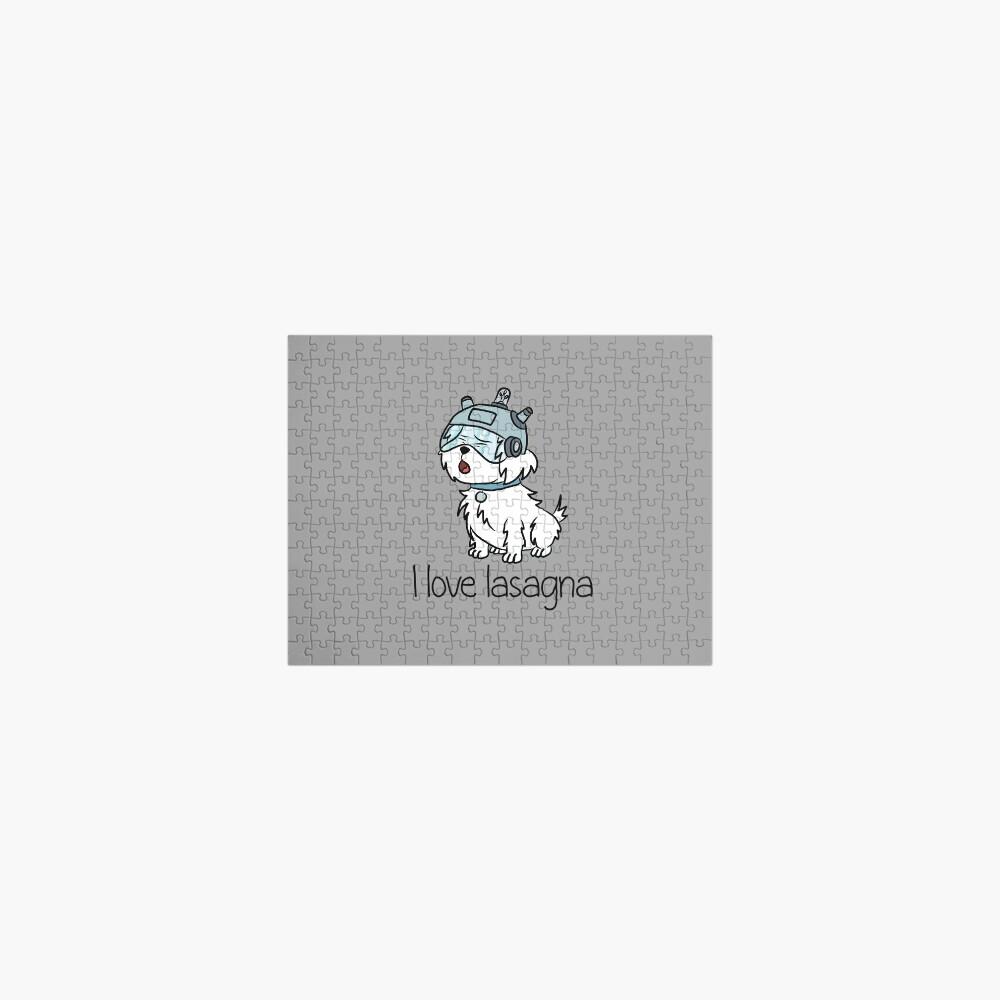 """""""I Love Lasagna"""" Snuffles - Rick and Morty Jigsaw Puzzle"""