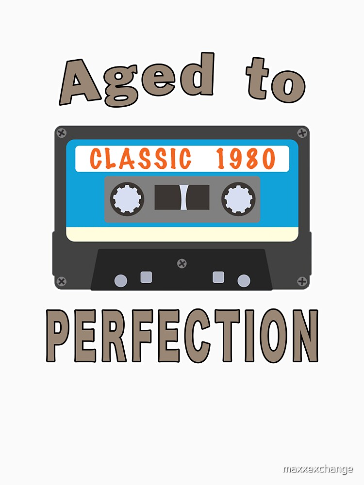 1980 40th Birthday Aged to Perfection Cassette. by maxxexchange