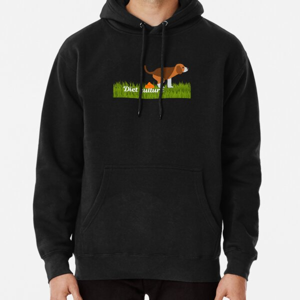Dog Pooping on Diet Culture Transparent Pullover Hoodie