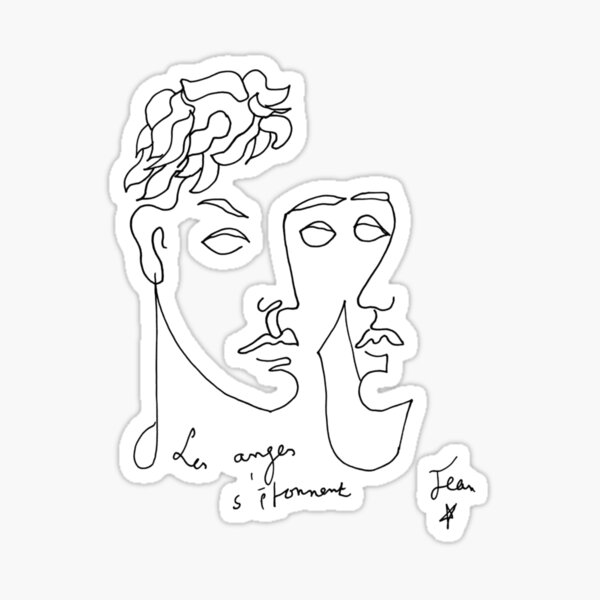 COCTEAU Jean - Les anges s'étonnent / The angels are astonished Sticker