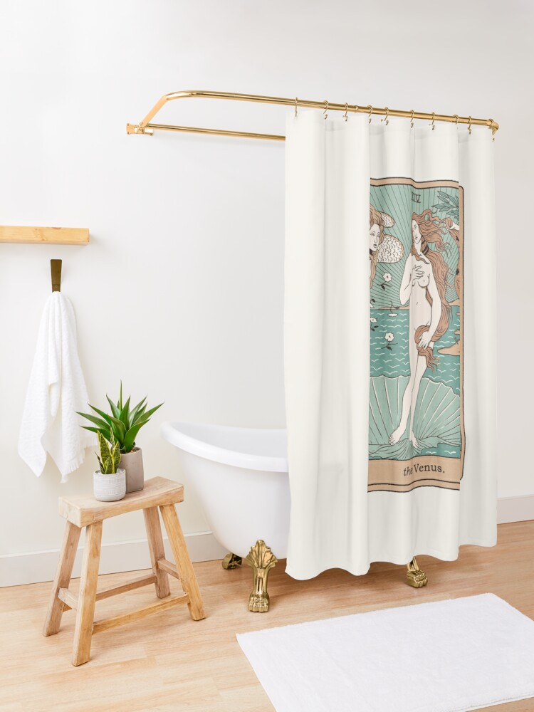 Alternate view of The Venus Shower Curtain