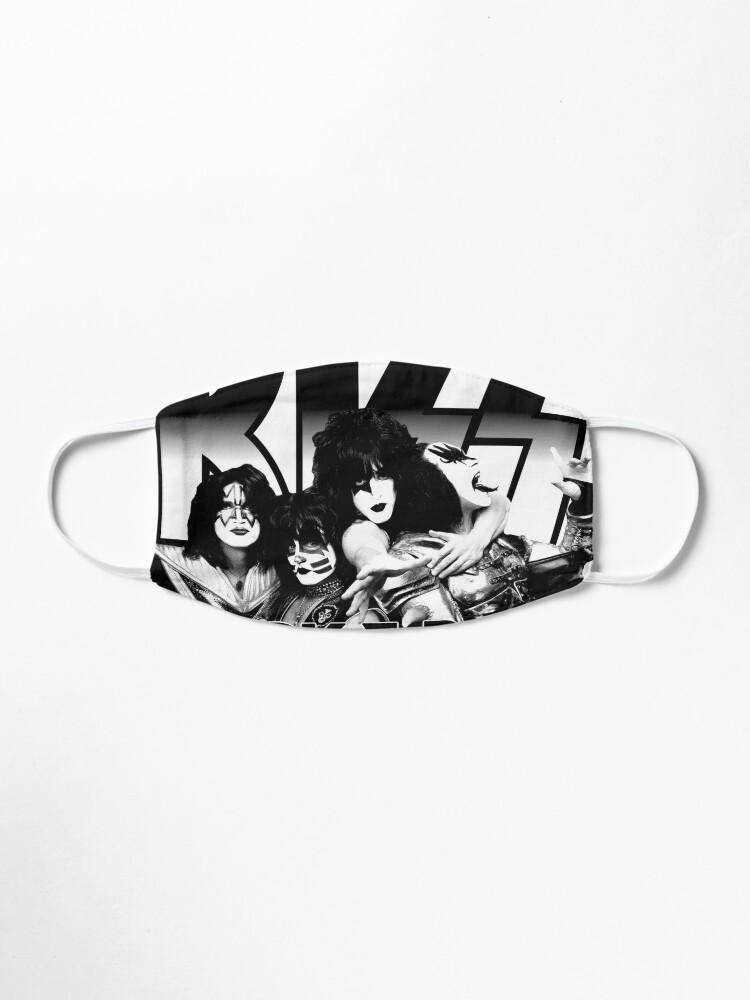 Alternate view of KISS Rock Band Black And White Rock & Roll All Nite Spaceman Catman Starman Demon Mask