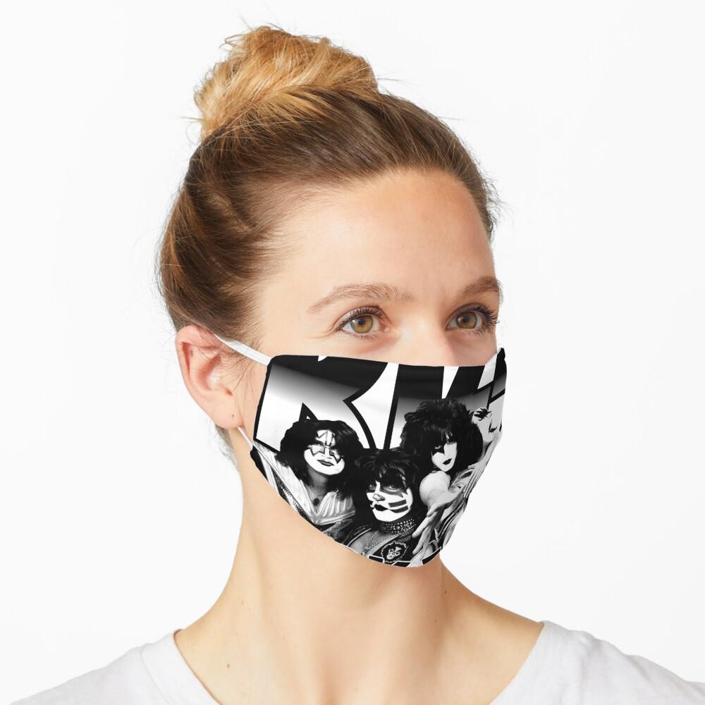 KISS Rock Band Black And White Rock & Roll All Nite Spaceman Catman Starman Demon Mask