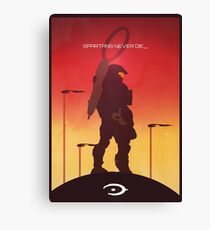 Spartan's Never Die - Halo Canvas Print