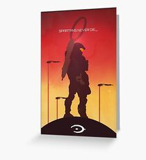 Spartan's Never Die - Halo Greeting Card