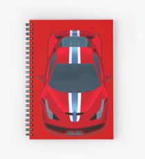 458 Red Horses Spiral Notebook