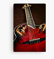 Acoustical Red Canvas Print