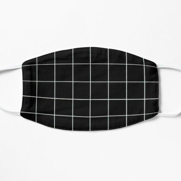 Black Grid Vaporwave Aesthetic Mask Mask
