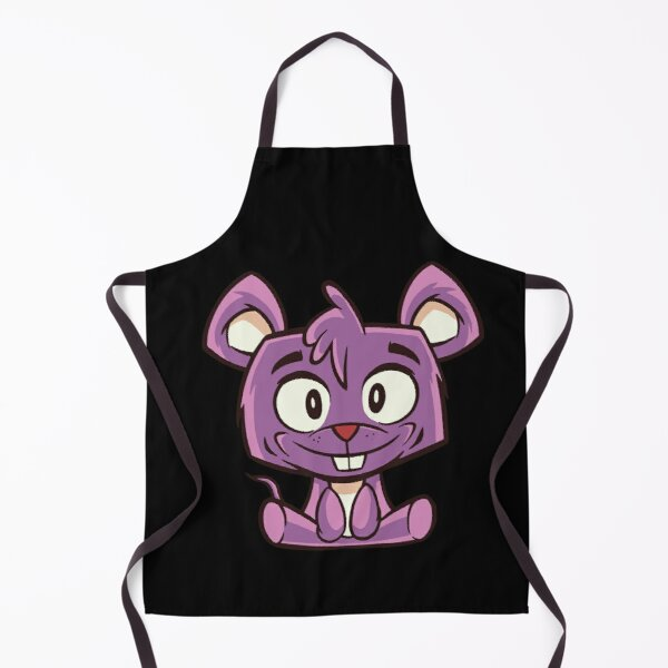 Cute Purple Cartoon Mouse With Big Eyes Apron