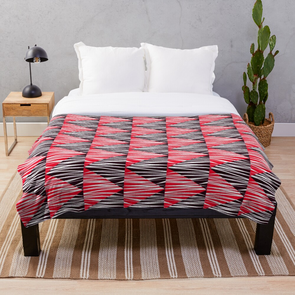Trendy and Modern Art Decor Stripe Pattern Throw Blanket