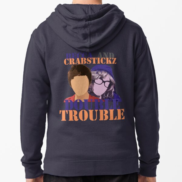 Becca and Crabstickz - Double Trouble Zipped Hoodie
