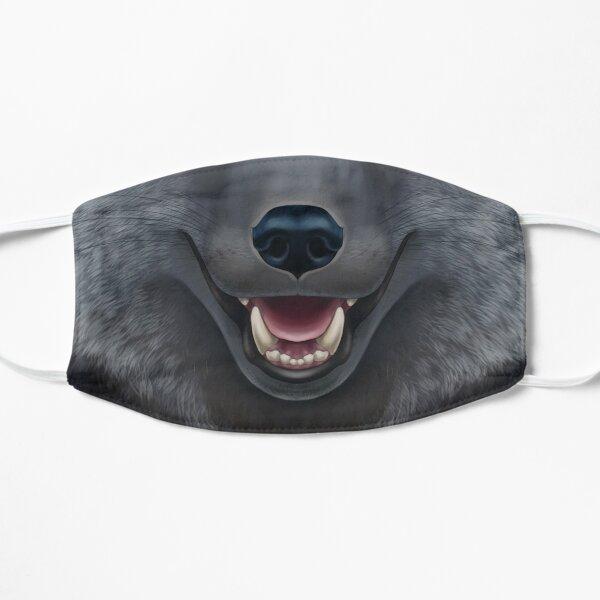 Silver Fox Face Flat Mask