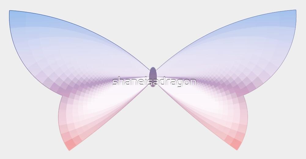 Rose Quartz & Serenity Sunset Butterfly by shaneisadragon
