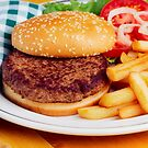 Delicious Hamburger Dinner by printscapes