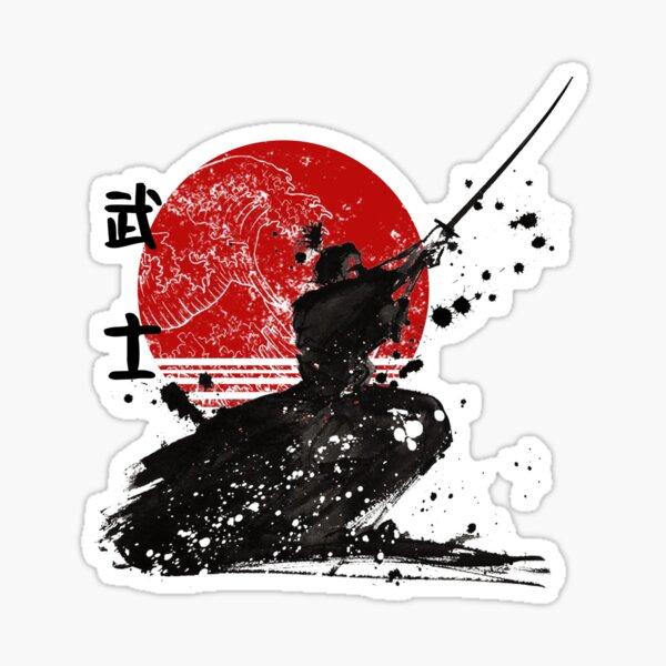 Samurai The Ghost Classic T-Shirt Design Sticker