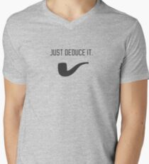 Just deduce it. Mens V-Neck T-Shirt