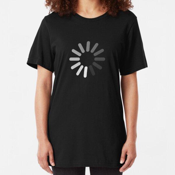 Apple Mac Loading Progress Wheel Symbol Slim Fit T-Shirt