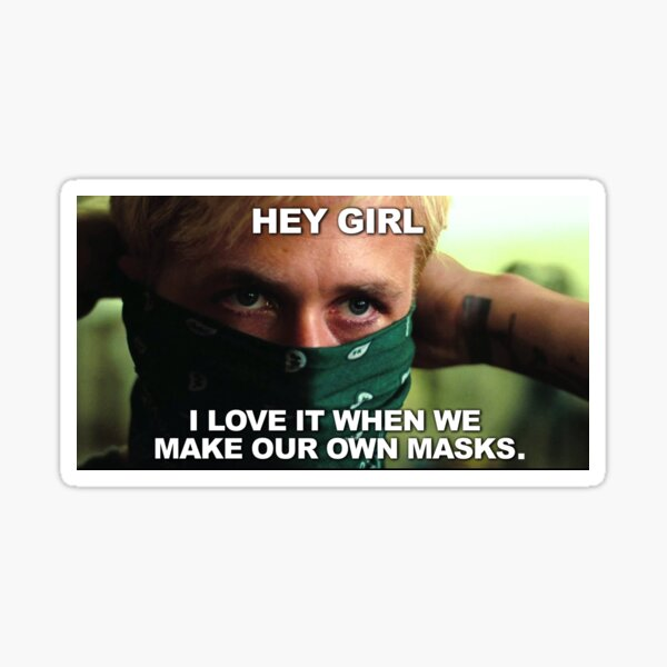 Hey Girl Masks Sticker