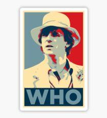 Doctor Who Peter Davison Barack Obama Hope style poster Sticker