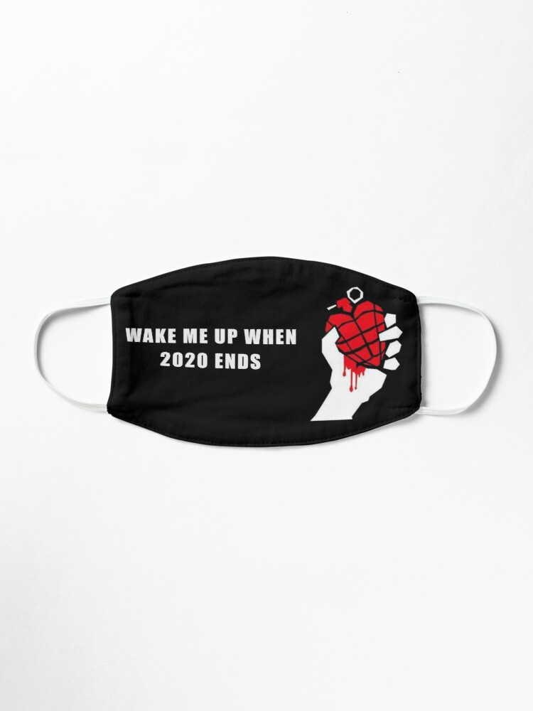 Alternate view of Wake Me Up When 2020 Ends Design Mask