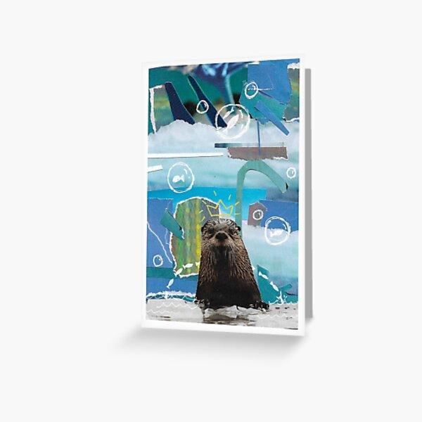 Warten Sie auf die Otter Grußkarte