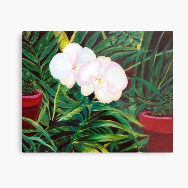 White Flowers - Image for a living room in the love corner Metal Print