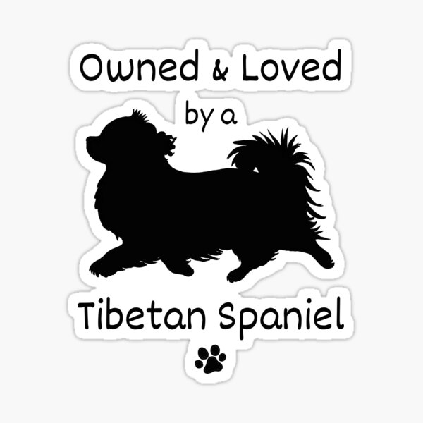 Cute Owned and Loved by a Tibetan Spaniel Design for the Tibbie Lover Sticker