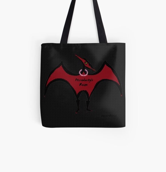 pterodactyl art All Over Print Tote Bag