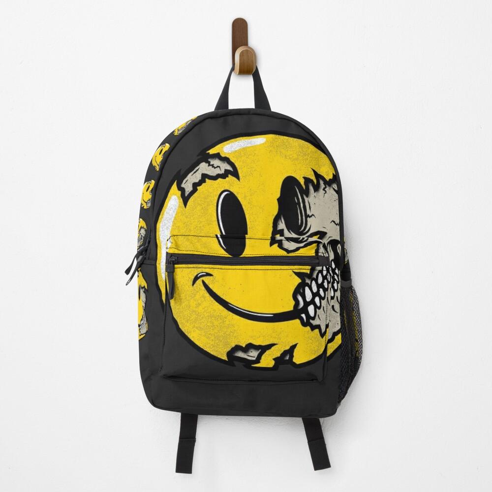 Smiley Face Skull Backpack