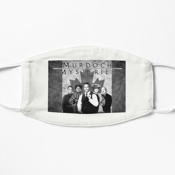 Murdoch Mysteries Design with Canadian Flag in black and white Mask