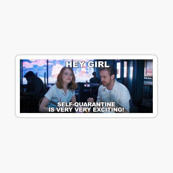 Hey Girl Quarantine Sticker