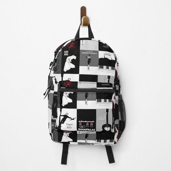 Minimal Classic Movies Title Pattern Backpack