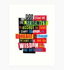 Serenity Prayer Original Graphic design Art Print