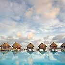 Bungalows in French Polynesia by printscapes