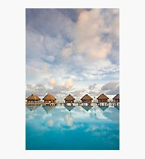 Bungalows in French Polynesia Photographic Print