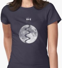 Tardis Staircase /1/ Womens Fitted T-Shirt