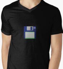 3.5 Inch Floppy Disk - Blue Men's V-Neck T-Shirt