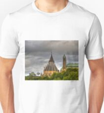 The parliament and library in Ottawa  T-Shirt