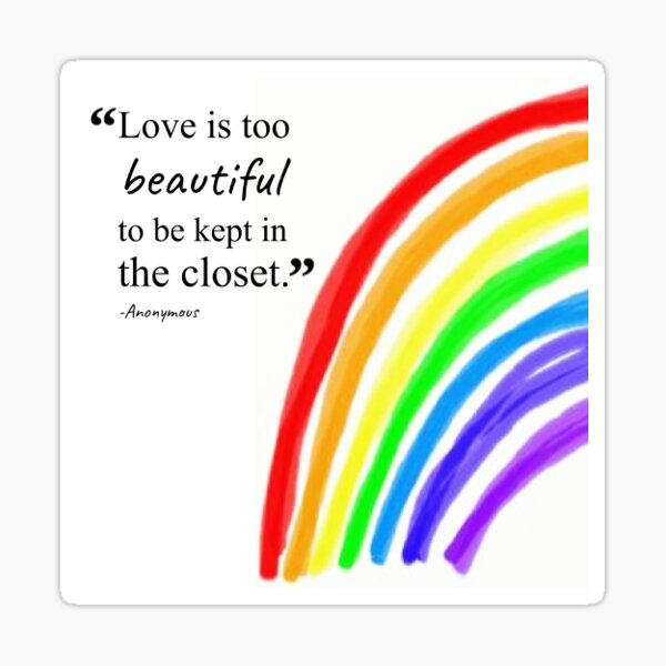 LGBTQ+ Justice Quote Sticker