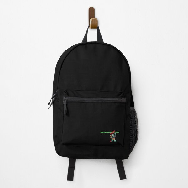 Vegans are People (Tasty) Too zombie meat eater Backpack