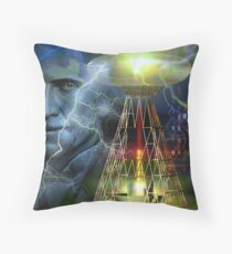 nikola tesla Throw Pillow