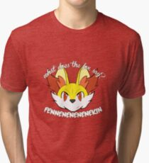 What Does the Fox Type Say? Tri-blend T-Shirt