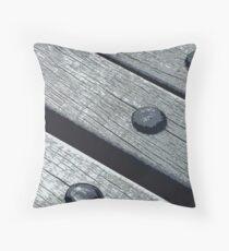 Timber decking Throw Pillow
