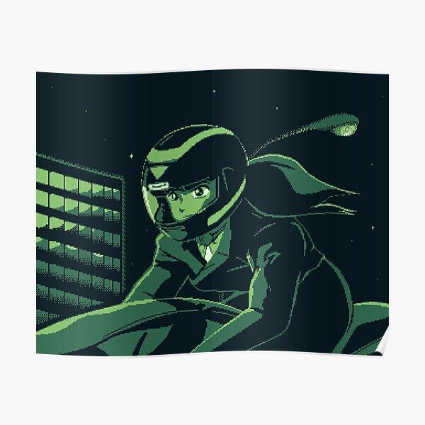 Priss Asagiri - Bubble Gum Crisis - Pixel Art Poster