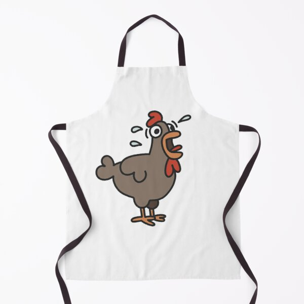 Stressed Chicken Cartoon Apron
