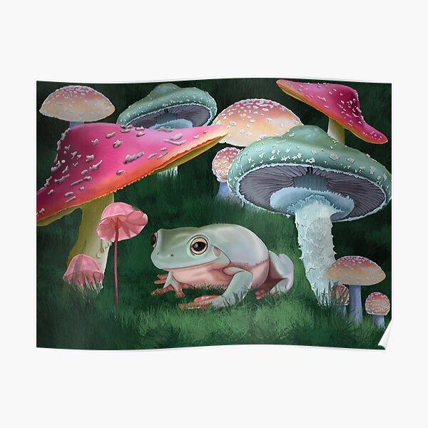 Mushroom Frog Poster