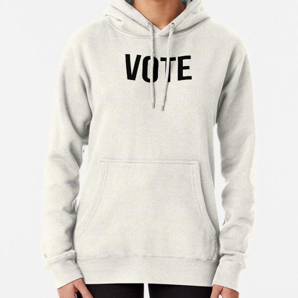 Vote Black Text Graphic Pullover Hoodie