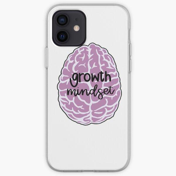 growth mindset pink brain iPhone Soft Case