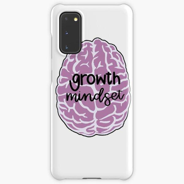 growth mindset pink brain Samsung Galaxy Snap Case