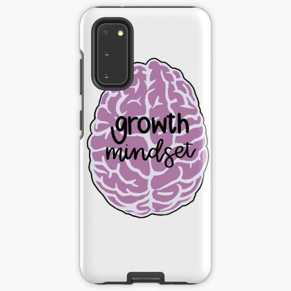 growth mindset pink brain Samsung Galaxy Tough Case